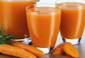 عصير الجزر بالبرتقال المثلج والمميز