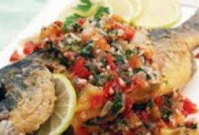 طبخ السمك المحشي