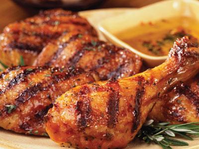 دجاج مقلي ومشوي