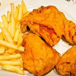 طبق دجاج البروستيد