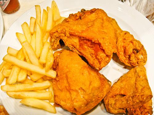 طبخ الدجاج البروستد