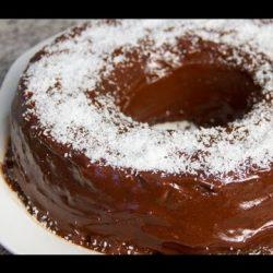 كعكة جوز الهند والشوكولاتة