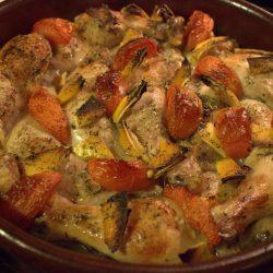 طريقة طبخ طاجن الدجاج بالخضار