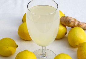 مشروب الليمون مع الزنجبيل