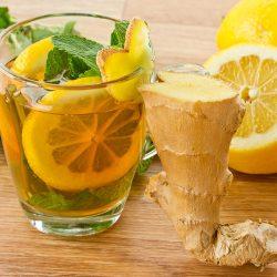 طريقة عمل عصير الليمون مع الزنجبيل