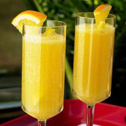 عصير الموز مع شرائح الليمون