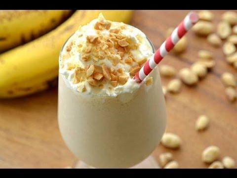 عصير الموز والمكسرات