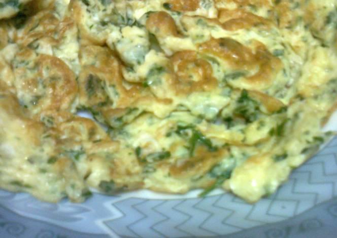 البيض المقلي مع البقدونس