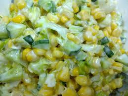 سلطة الذرة والبطاطا بالمايونيز